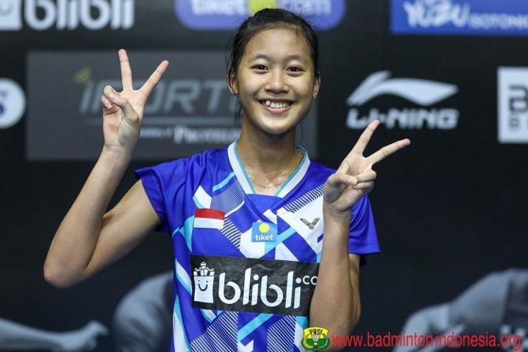 Putri Kusuma Wardani (19 tahun) punya potensi menjadi pemain besar. Dia diharapkan tampil di Olimpiade 2024.Foto: badmintonindonesa.org