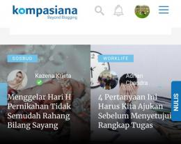 Ilustrasi tangkapan layar halaman muka Kompasiana (Dokpri)