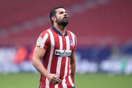 Diego Costa, mantan pemain Atletico Madrid. (via Getty Images)