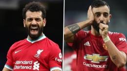 Mohamed Salah dan Bruno Fernandes, pilihan terbaik FPL gameweek 2. (Sumber: sundulgol.com)