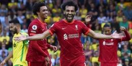 Penyerang Liverpool, Mohamed Salah tampil istimewa di pekan perdana Liga Inggris 2021/22/Foto: www.newindianexpress.com/AP
