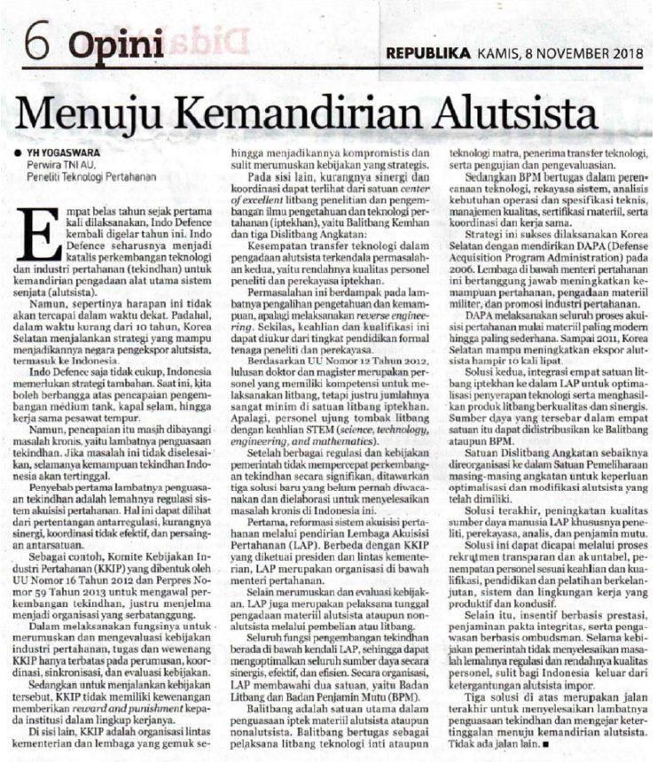 Opini Republika, 8 November 2018 (dokpri)