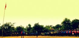 Upacara Bendera Merah Putih Ala Pesepeda. Foto dok. PUMA Purwakarta
