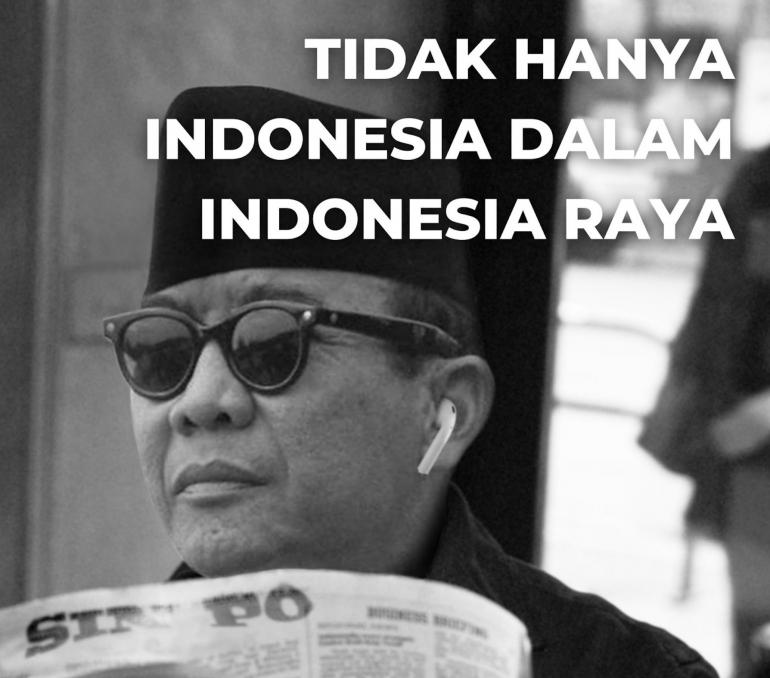 Ilustrasi Soekarno Membaca Koran Sin Po/Ilustrasi Pribadi