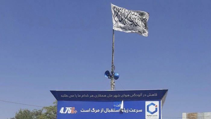 Bendera Taliban berkibar di wilayah Afghanistan (Detik)