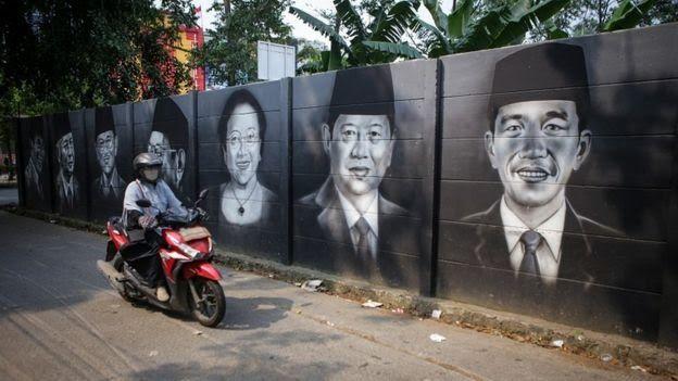 Mural Presiden Indonesia dari waktu-ke waktu (sumber ilustrasi: bbc.com)