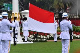 Pelaksanaan upacara HUT 75 RI (17/8/2020). Sumber: Istana Presiden/Agus Suparto/via Kompas.com