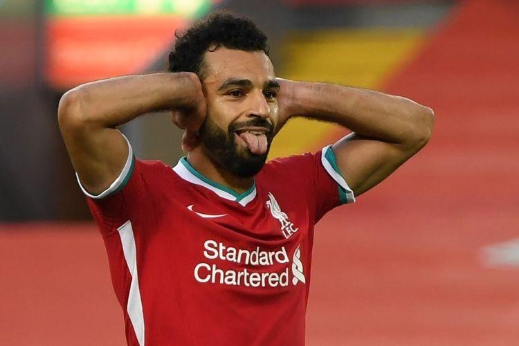 Mohamed Salah. Foto: AFP/SHAUN BOTTERILL dipublikasikan kompas.com