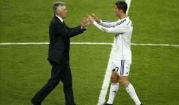 Gambar Ronaldo dan Ancelotti via ESPN