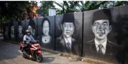 Mural wajah presiden RI