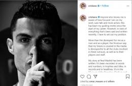 Cristiano Ronaldo I Gambar : crop Instagram Christiano