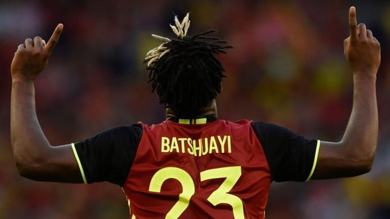 Michy Batshuayi, saat berseragam timnas Belgia. (via bundesliga.com)