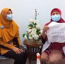 Ilustrasi: Dokter Bintari Wuryaningsih memberi penjelasan penanganan limbah medis Isoman. Sumber; IG RSI Fatimah Banyuwangi.