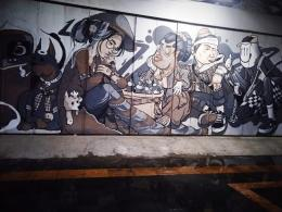 Salah satu mural penuh makna sosial di Jalan Gatsu,bagaimana menurut Anda? |Dokumentasi pribadi