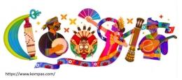 Ilustrasi Kemajemukan Budaya Indonesia (karya Kathrin Honesta, Tangkapan Layar dari Kompas.com)