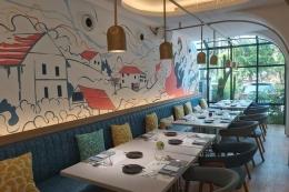 Ilustrasi mural di restoran (gambar dari kompas.com)