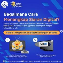 Cara menangkap siaran TV digital (sumber: instagram @siarandigitalindonesia)