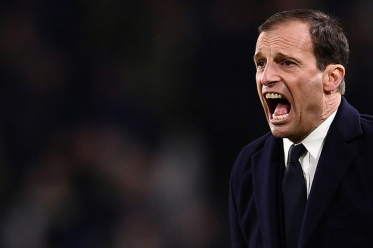 Massimiliano Allegri, Pelatih Juventus. Sumber foto: Marco Bertorello/AFP via Kompas.com
