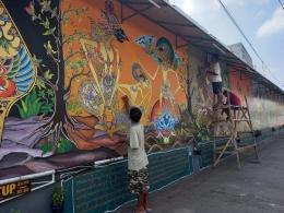 Mural gagasan Iswanto Yulius sumber borobudur.news.com