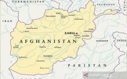 Peta kawasan Afghanistan-Pakistan. ANTARA/Shutterstock/pri. (ANTARA/Shutterstock)