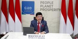 Menkominfo Johnny G Plate (Sumber: Indonesiatech.id)