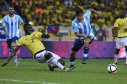 Paulo Dybala (nomor 7). foto: LUIS ACOSTA / AFP dipublikasikan kompas.com