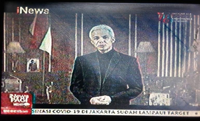 (Ganjar Pranowo membawakan acara berita di Host Challenge I-nws/ sumber foto pribadi)