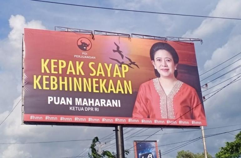 Baliho Puan Maharani. Doc Dhanks