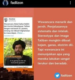 Cuitan Fadli Zon di Twitter (dok ss.twitter.fadlizon)