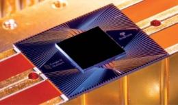 Sebuah prosesor untuk komputer kuantum Sycamore Google. Sumber: New Scientist, International Edition, 14 August 2021, hlm. 20.