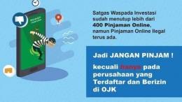 Himbauan tentang bahaya pinjaman online (sumber ilustrasi: beritasatu.com)