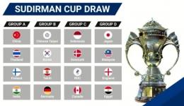 Hasil undian Piala Sudirman 2021: bwfbadminton.com