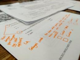 Draf soal Penilaian Tengah Semester ditandai oleh korektor | Dokumentasi pribadi
