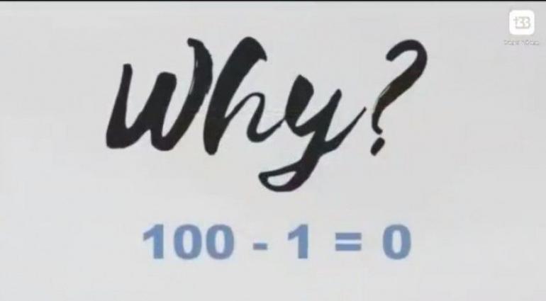 100-1=0 (sumber: ririnelfi.com)