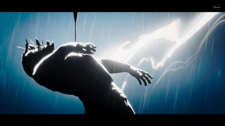 Thor ketika terbunuh oleh panah Clint Barton alias Hawkeye. Sumber : Disney+