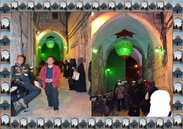 Salah satu pintu gerbang masuk ke kompleks Masjid Al Aqsha. Buka dan tutup di atur sang penguasa (Dokumen Pribadi)