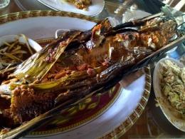 Ikan Patin Bakar Bambu (dokpri)