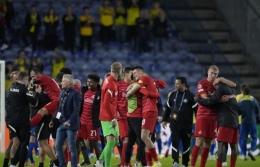 RB Salzburg merayakan kelolosan ke Liga Champions. (via news.in-24.com)