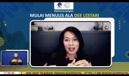 Webinar Mulai Menulis Ala Dee Lestari, dokpri