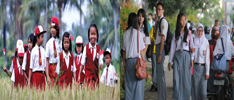 Gambar ilustrasi bersekolah kembali. Gambar kiri sumber Ziyadweb.id. Gambar kanan sumber Suarapekanbaru.com. Digabung oleh penulis