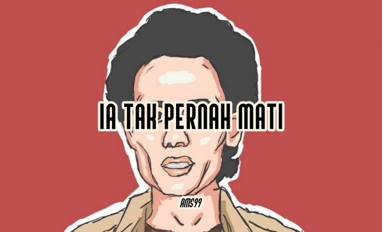 Puisi Ia Tak Pernah Mati, Untuk Wiji Thukul/ Gramedia.com By Text On Photo