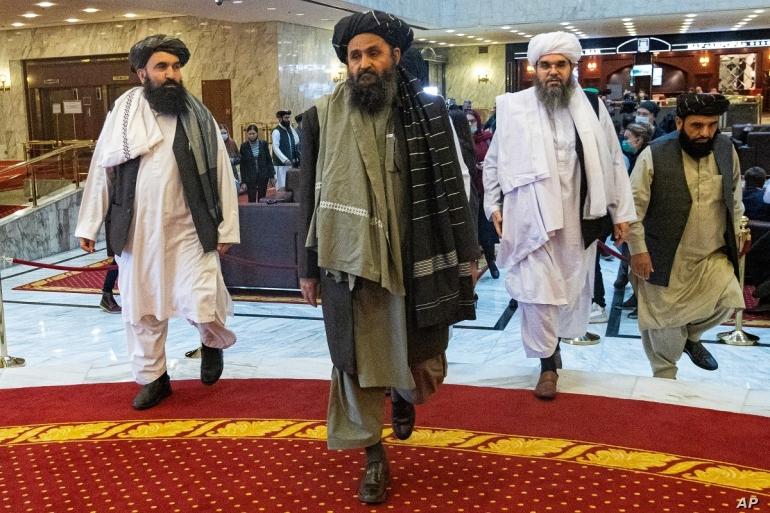 Mullah Abdul Ghani Baradar. Source images voanews.com/AP