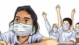 Pembelajaran Tatap Muka di Masa Pandemi. Ilustrasi dari Kemendikbud