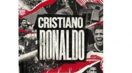 Pengumuman transfer Cristiano Ronaldo di laman resmi MU (Tribunnews.com)