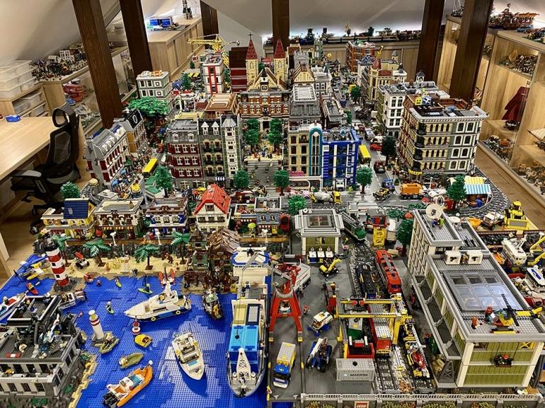 Diorama kota LEGO | Sumber foto: Indobrickville & Gabor Kovacs