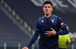 Joaquin Correa, pemain Lazio yang hengkang ke Inter Milan musim panas ini. (via new.in-24.com)