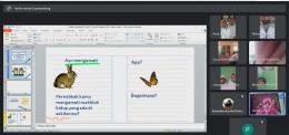Pelaksanaan PPL siklus 1 berbasis daring dihadiri oleh dosen pembimbing dan guru pamong