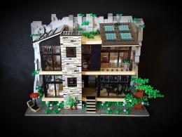 Desain rumah dari LEGO | Sumber foto: Indobrickville & Sarah Beyer