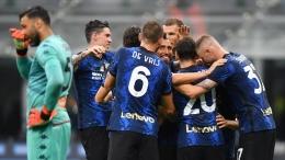 Inter menang besar di laga pembuka Serie A 2021/22. Sumber: via Reuters