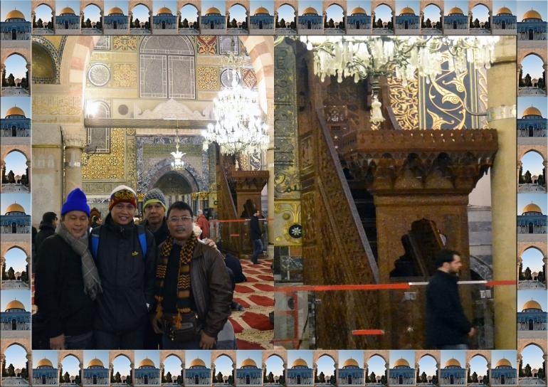 Reflika Asli Mimbar Salahuddin di Masjid Al Aqsha al Masquf (Dokumen Pribadi)